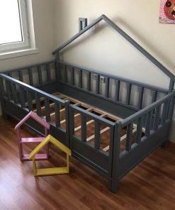 MY13 - 90x190 cm Arkası Çatılı Montessori Yatak