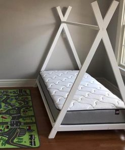 MY25 - 90x150 cm Üçgen Başlıklı Çatılı Montessori Yatak