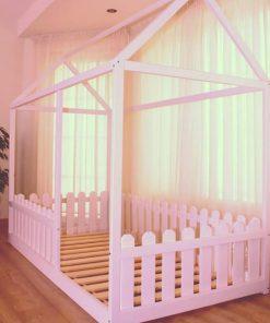 MY40 - 90X170 cm Çatılı Çitli Montessori Yatak