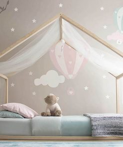 MY5 - 90x190 cm Yatay Çatılı Yan Korumasız Montessori Yatak