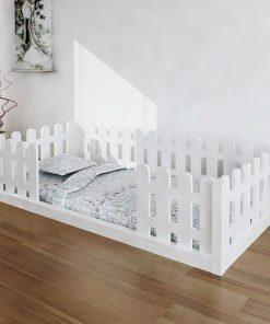 MY9 - 80x180 cm Çatısız Çit Korumalı Montessori Yatak