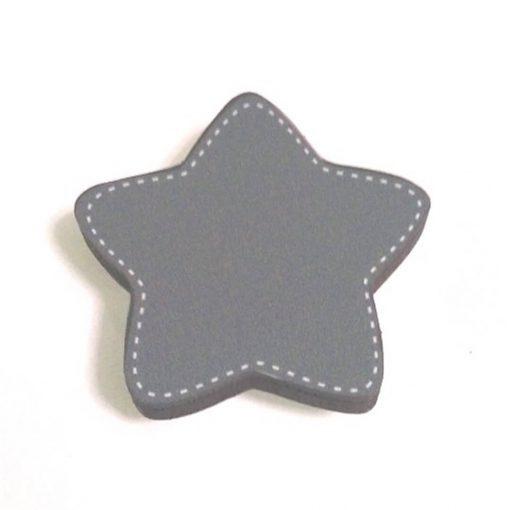 Gri Yıldız Motifli Bebek Kulp Modeli
