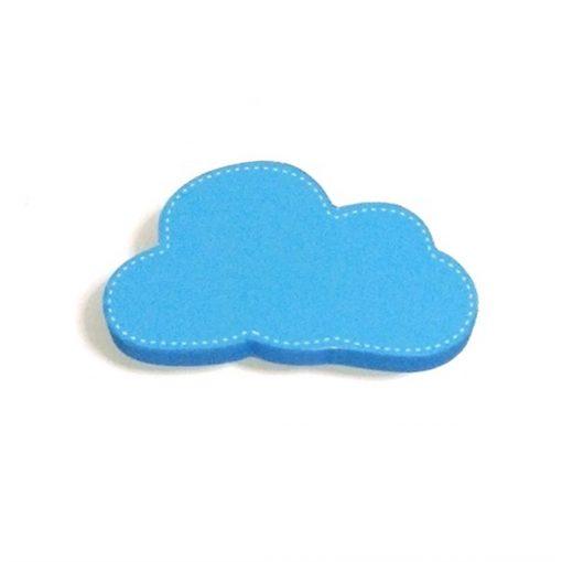 Mavi Renk Bulut Motifli Bebek Kulp Modeli