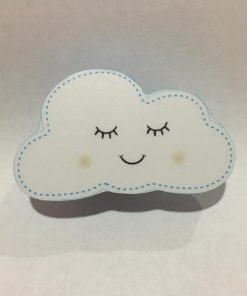 Mavi Renk Gülümseyen Bulut Motifli Bebek Kulp Modeli