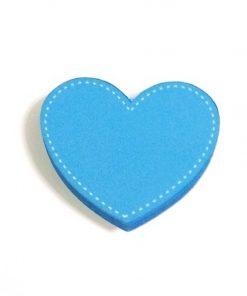 Mavi Renk Kalp Motifli Bebek Kulp Modeli