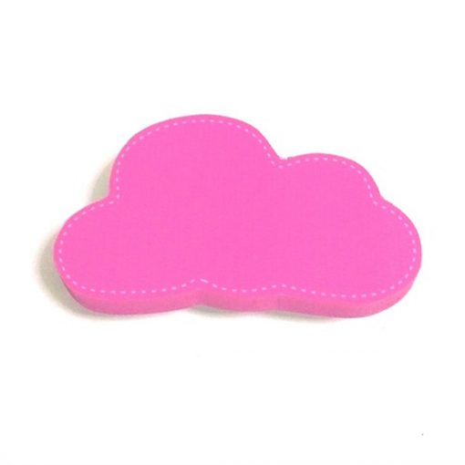 Pembe Renk Bulut Motifli Bebek Kulp Modeli