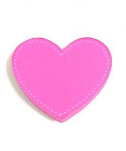 Pembe Renk Kalp Motifli Bebek Kulp Modeli