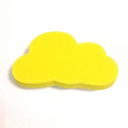 Sarı Renk Bulut Motifli Bebek Kulp Modeli