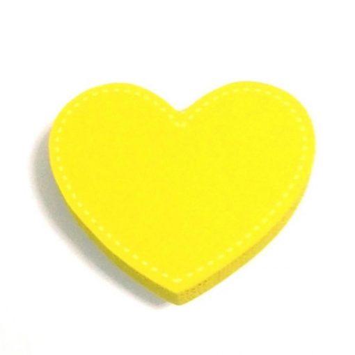 Sarı Renk Kalp Motifli Bebek Kulp Modeli