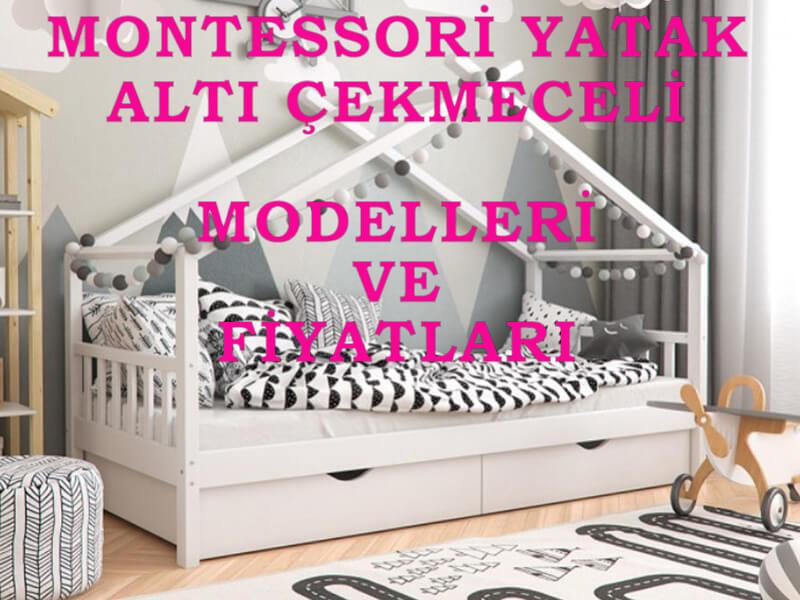 montessori yatak altı çekmeceli modelleri