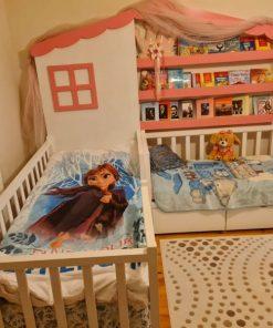 MY98 Kitaplıklı Yatak Montessori İkili Yatak